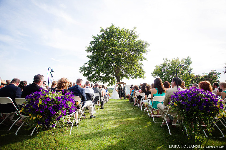 wedding ceremony at laudholm farm wells ME