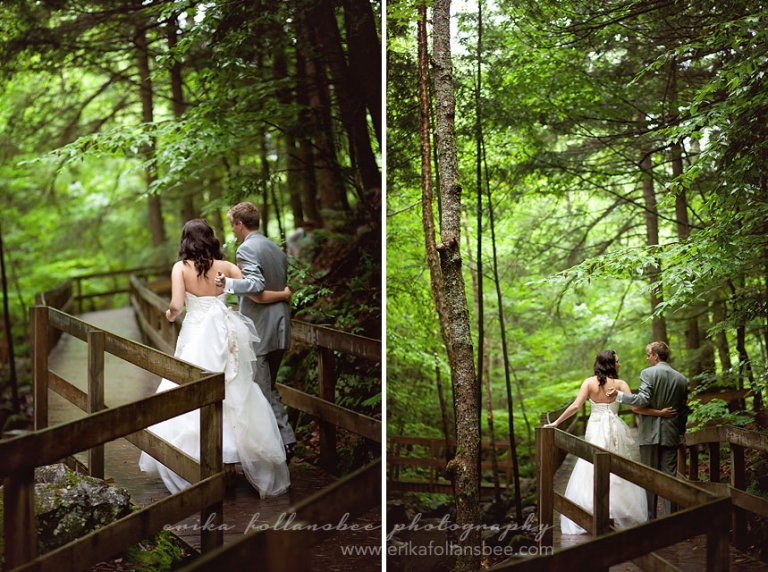 castle in the clouds waterfall wedding photo 2