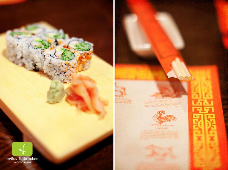 california roll Chen's Garden sushi restaurant