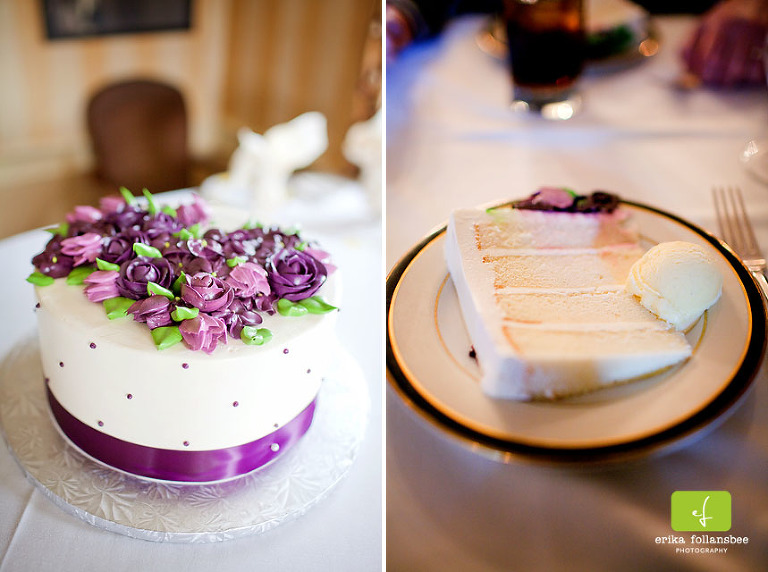 purple wedding cake by Jacques Pastries, NH