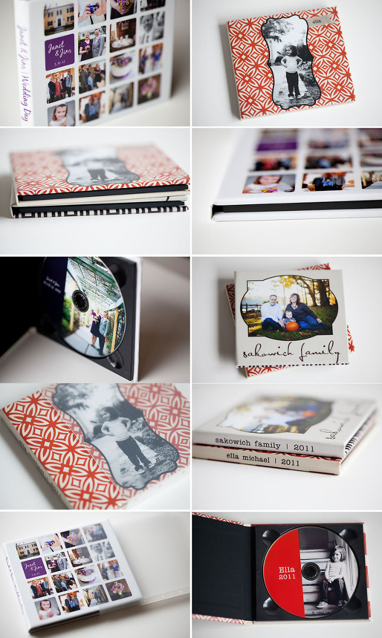 Custom Designed CD folios for portrait and wedding clients