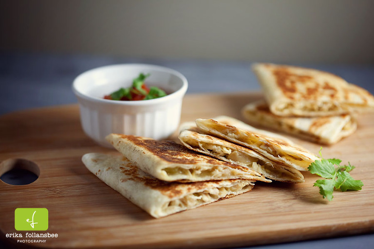 Green Chile Chicken Quesadillas recipe