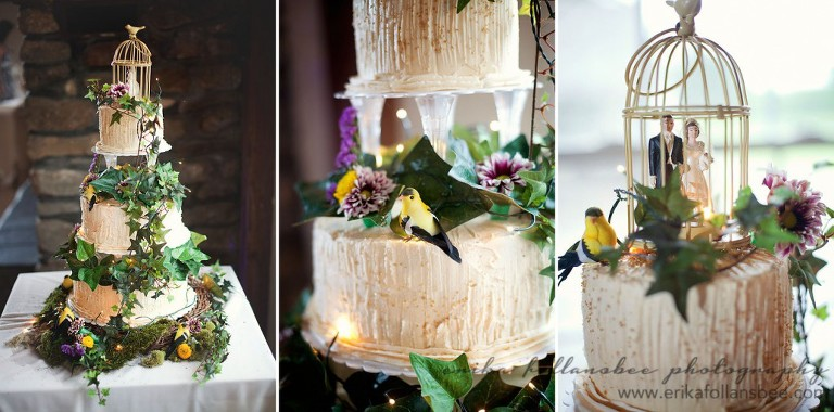 waukewan barn wedding reception - wedding cake