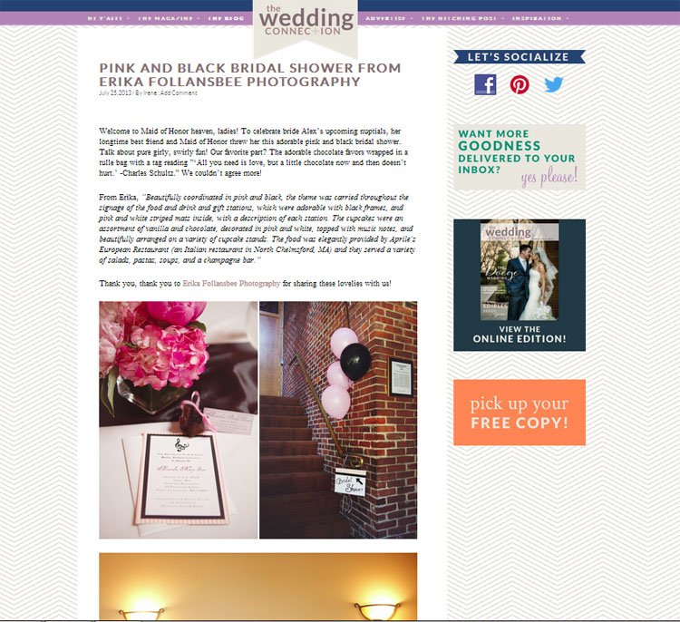The Wedding Connection: Featured On The Wedding Connection Magazine Blog