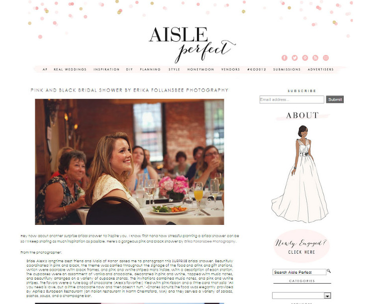 featured on aisle perfect blog