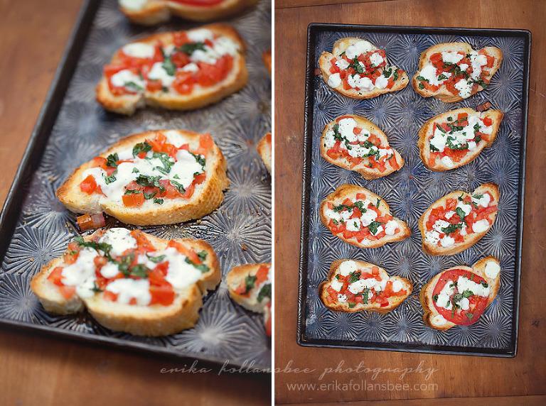 fresh tomato, basil, mozzarella bruschetta recipe