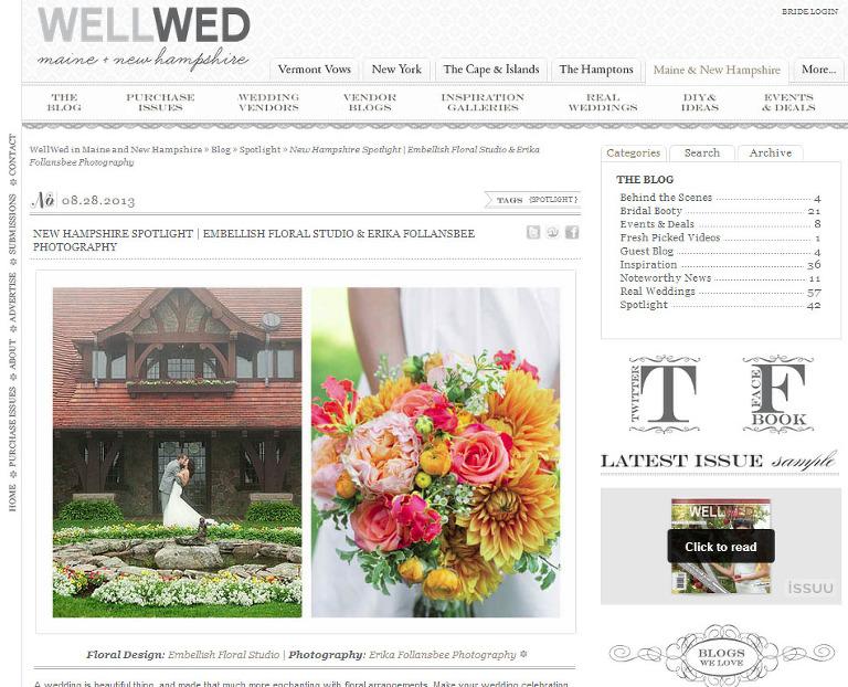 featured on WellWed magazine blog