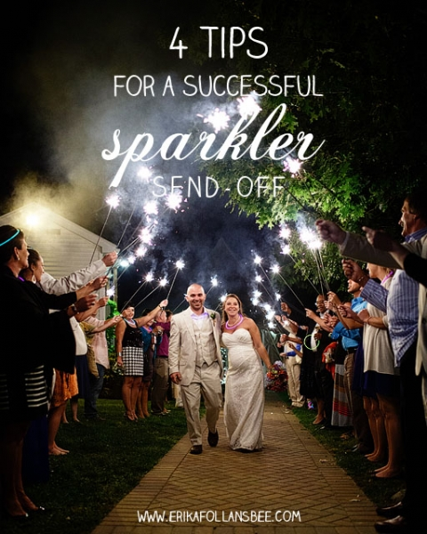 4 Tips for a Successful Sparkler Send-off | Erika Follansbee | NH ...