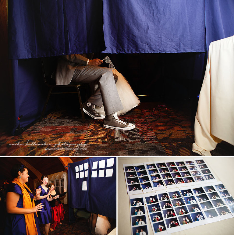 shattuck wedding NH tardis photobooth