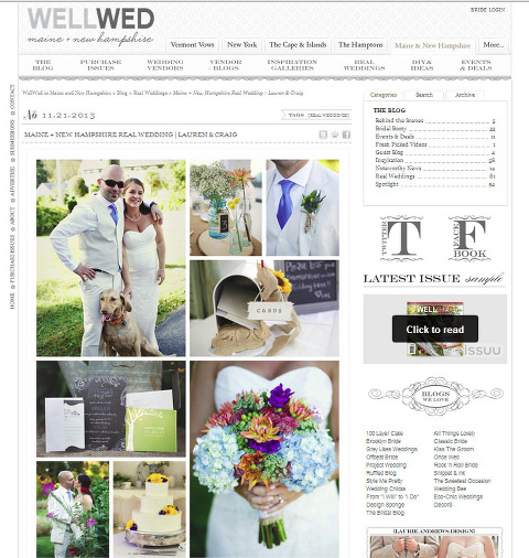 Featured on WellWed Maine + New Hampshire website