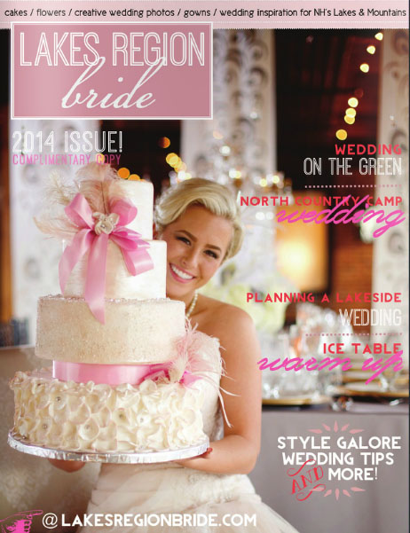 Lakes Region Bride magazine cover by Erika Follansbee Photography