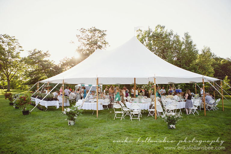 NH henniker country rustic wedding sailcloth tent