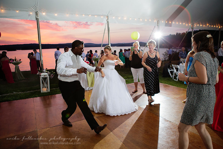 Margate Resort NH wedding dance floor sunset