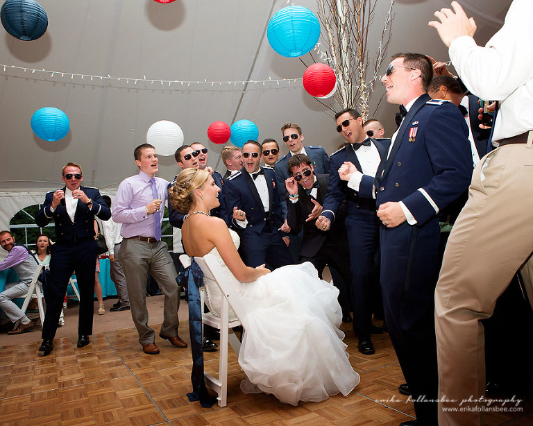 Air Force Top Gun Themed Wedding at Waterville Valley Resort NH