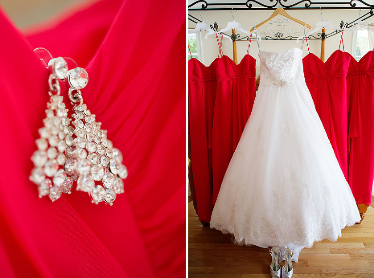 alfred angelo cherry bridesmaid dresses with david turturo gown