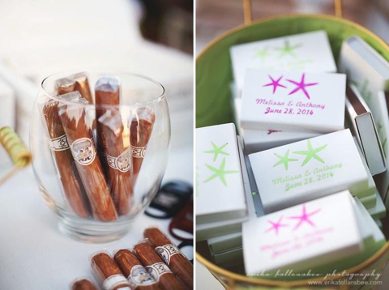 cigars at margate resort wedding reception
