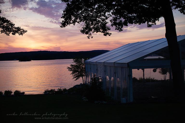 margate resort lake winnipesaukee sunset