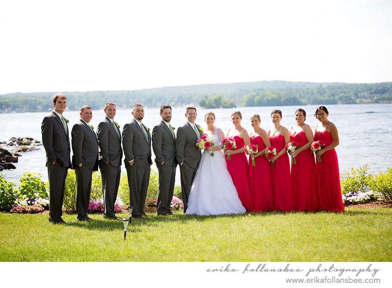margate resort summer wedding bridal party