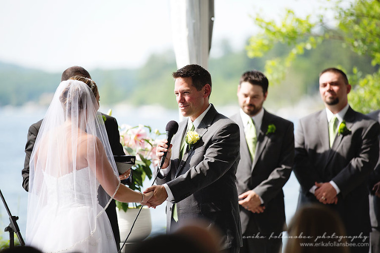 margate resort wedding ceremony groom