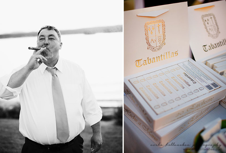 cigars at wedding reception