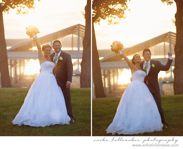 margate resort bride and groom sunset photos