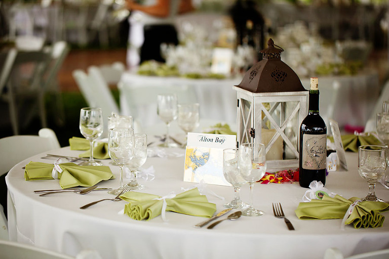 margate resort wedding reception tables