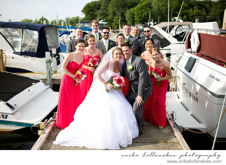 mountain view yacht club marina wedding photo