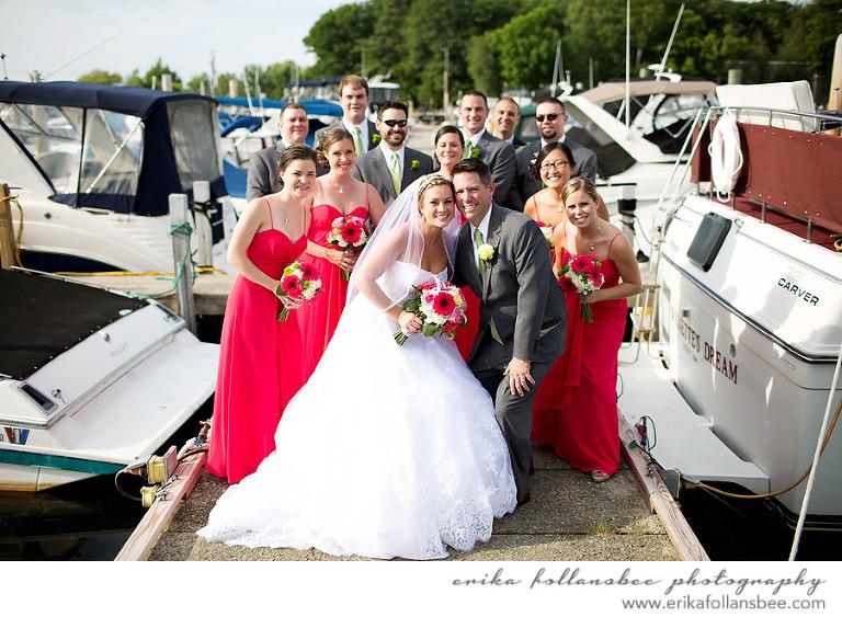 mountain view yacht club marina wedding photo