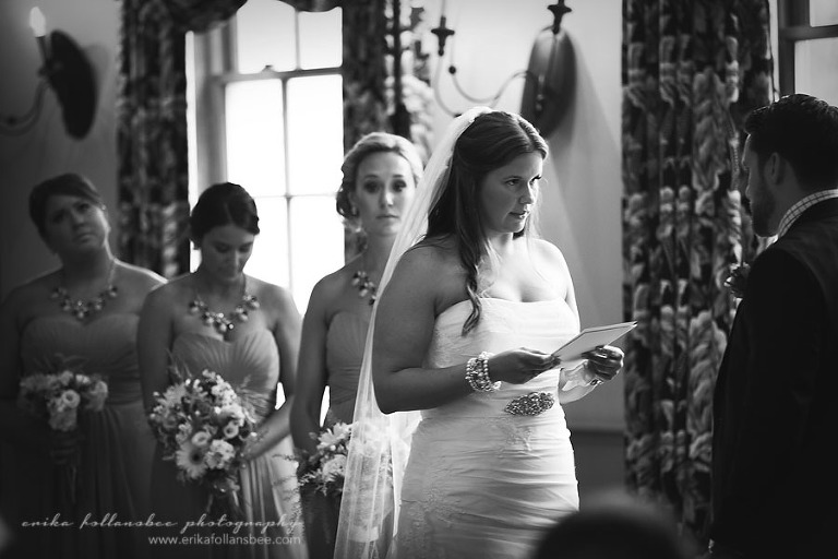 wedding ceremony in Paige Hall at Publick House, Sturbridge MA