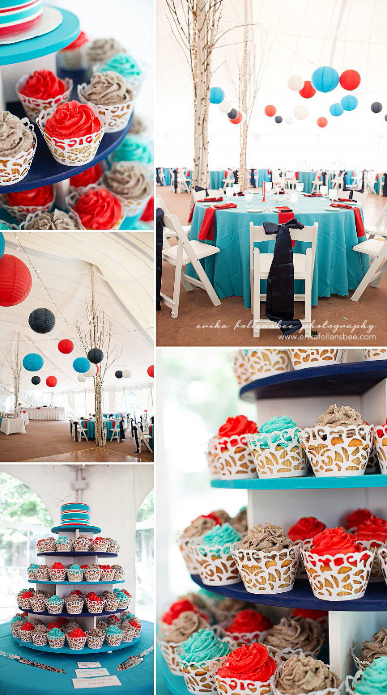 red white blue air force patriotic military wedding reception waterville valley resort NH