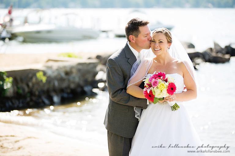 wedding photo at margate resort beach