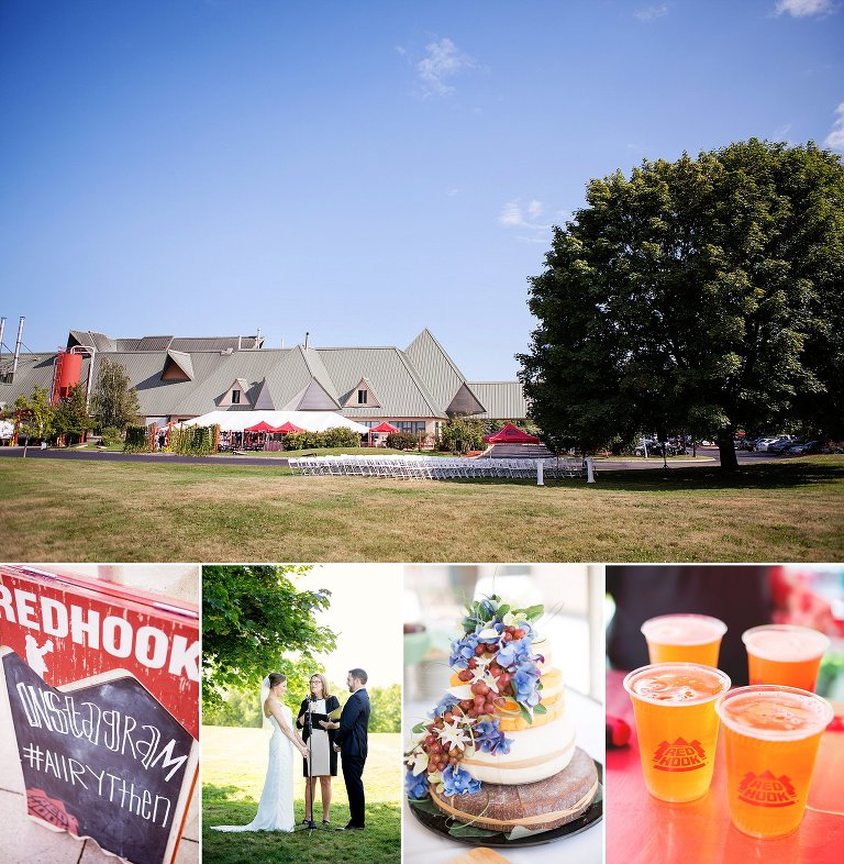 Summer Wedding at RedHook Brewery in Portsmouth, NH