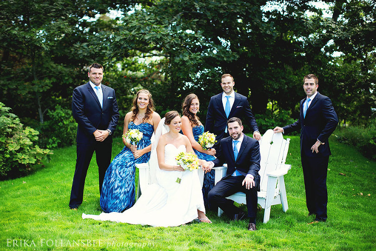 wentworth NH wedding party photo