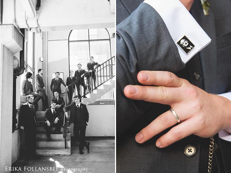 groomsmen at lane hotel keene NH and bill murray cufflinks