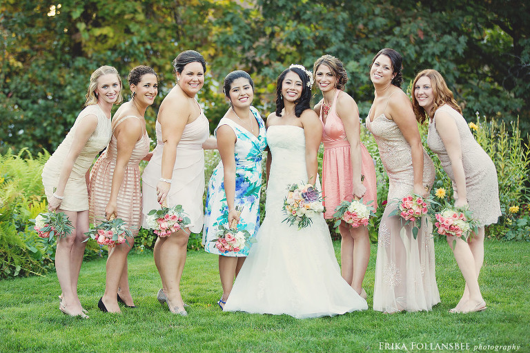 Mile Away Restaurant Wedding Photo | Bridesmaids