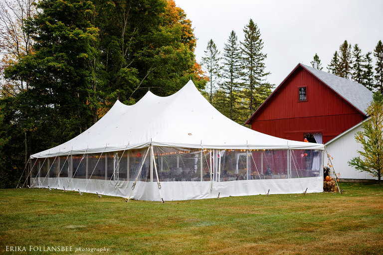 Meadow Wind Bed & Breakfast Tented Reception | Hebron, NH | Lakes Region Tent & Event