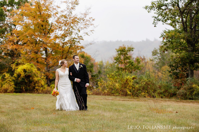 NH rustic fall wedding