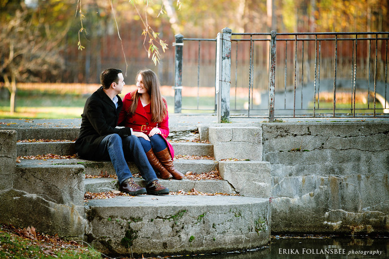 engagement photos larz anderson park boston ma
