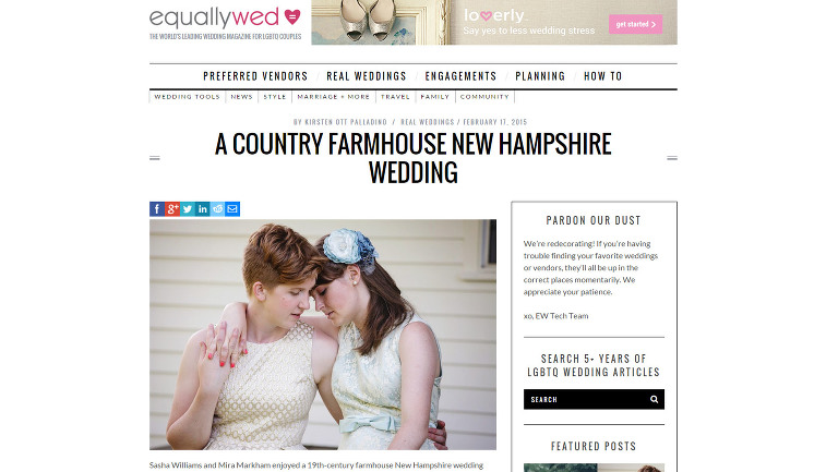 Erika Follansbee Photography featured on Equally Wed