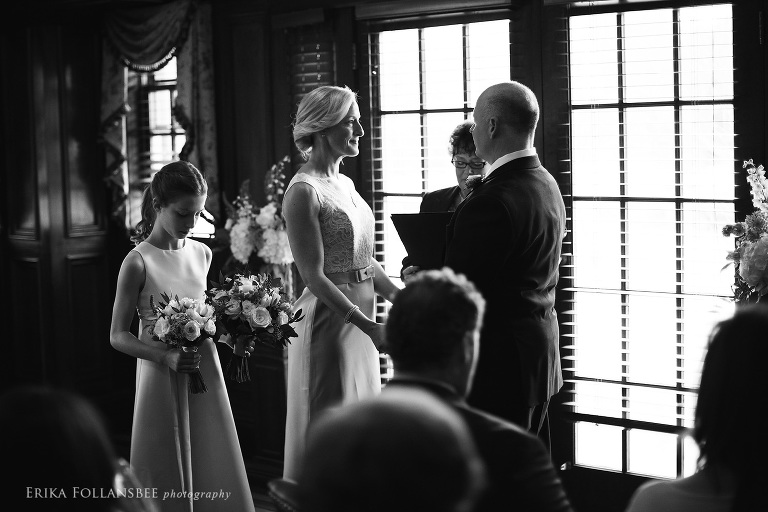 intimate ceremony at Bedford Village Inn | Overlook Room