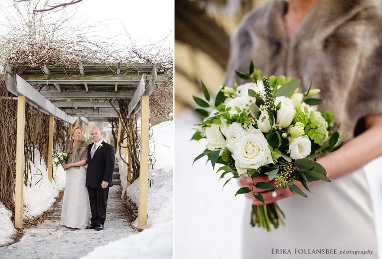 bedford village inn winter wedding | apotheca flowers