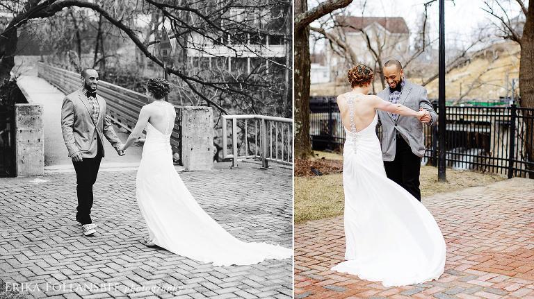 first look wedding photos belknap mill