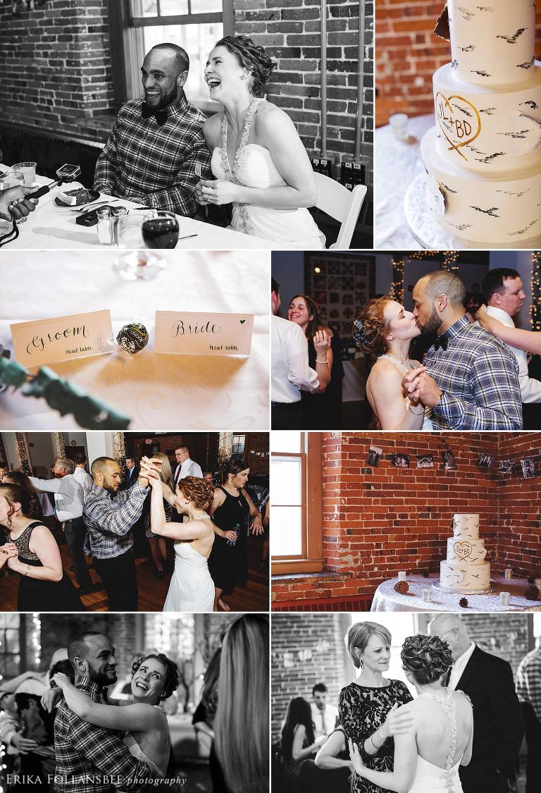 wedding reception at belknap mill laconia