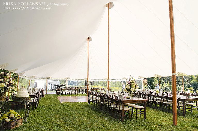 Lakes Region Tent & Event sailcloth tent, Alstead NH farm backyard wedding