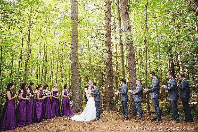 alstead NH rustic elegant farm wedding forest cermony