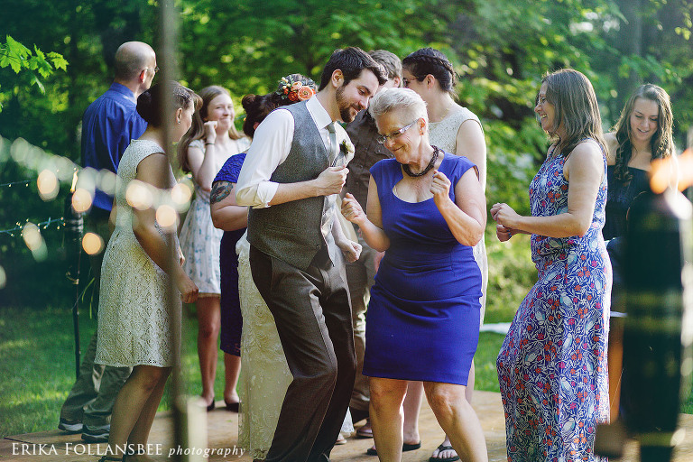 outdoor wedding reception dancing | New Hampshire