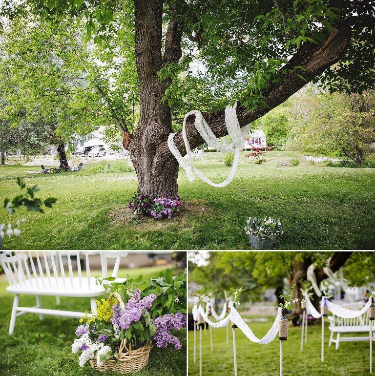 pretty backyard wedding in dover NH