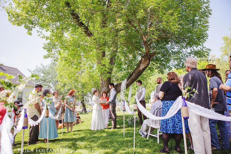pretty backyard wedding in dover NH 2