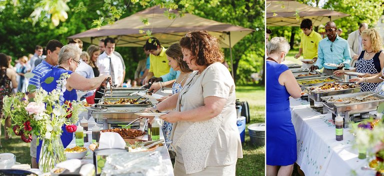 outdoor wedding catered by food truck NH