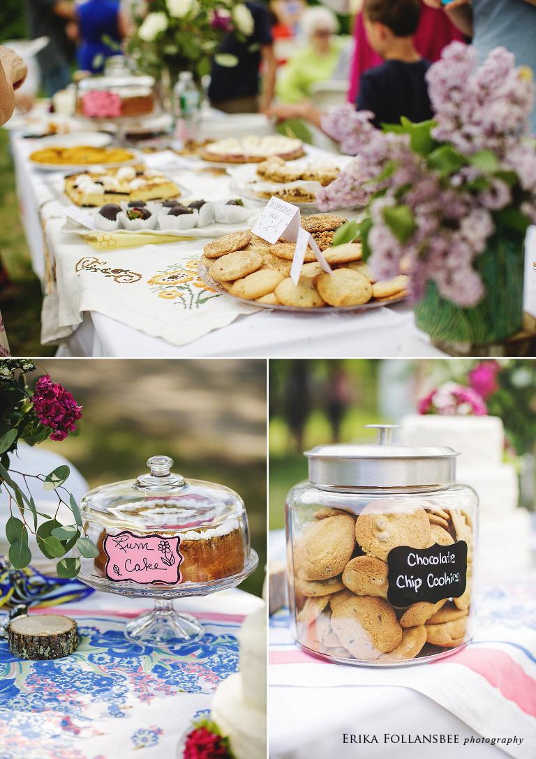 potluck style backyard wedding reception (1)